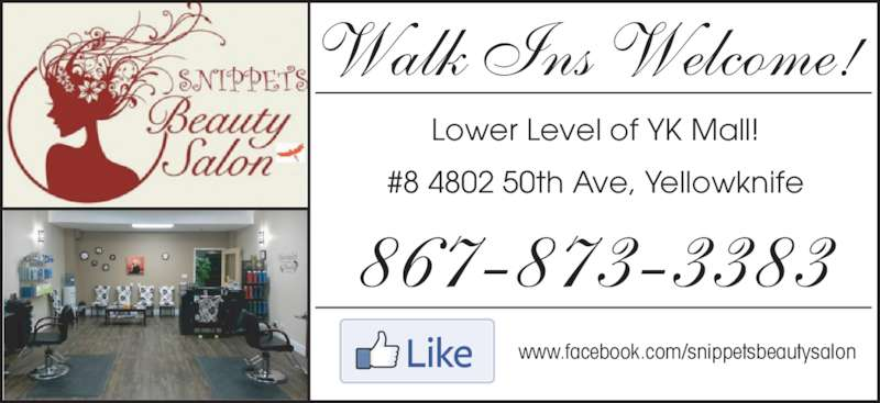 Snippets beauty salon opening hours 4802 50 ave for 50th avenue salon