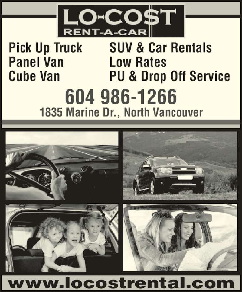 lo cost rent a car truck north vancouver bc 1835 marine dr canpages. Black Bedroom Furniture Sets. Home Design Ideas