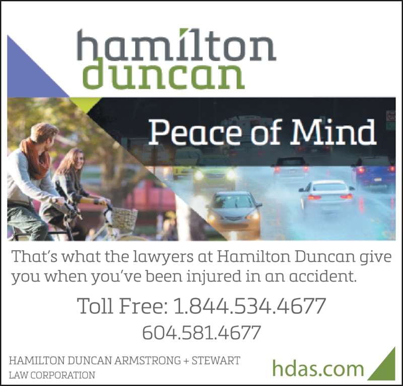 Hamilton Duncan Armstrong + Stewart Law Corp (604-581-4677) - Display Ad -