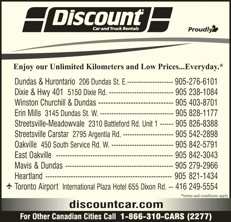 Dsicount Car And Truck Rental Mississauga