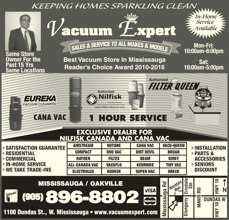 Vacuum Expert Opening Hours 1100 Dundas St W