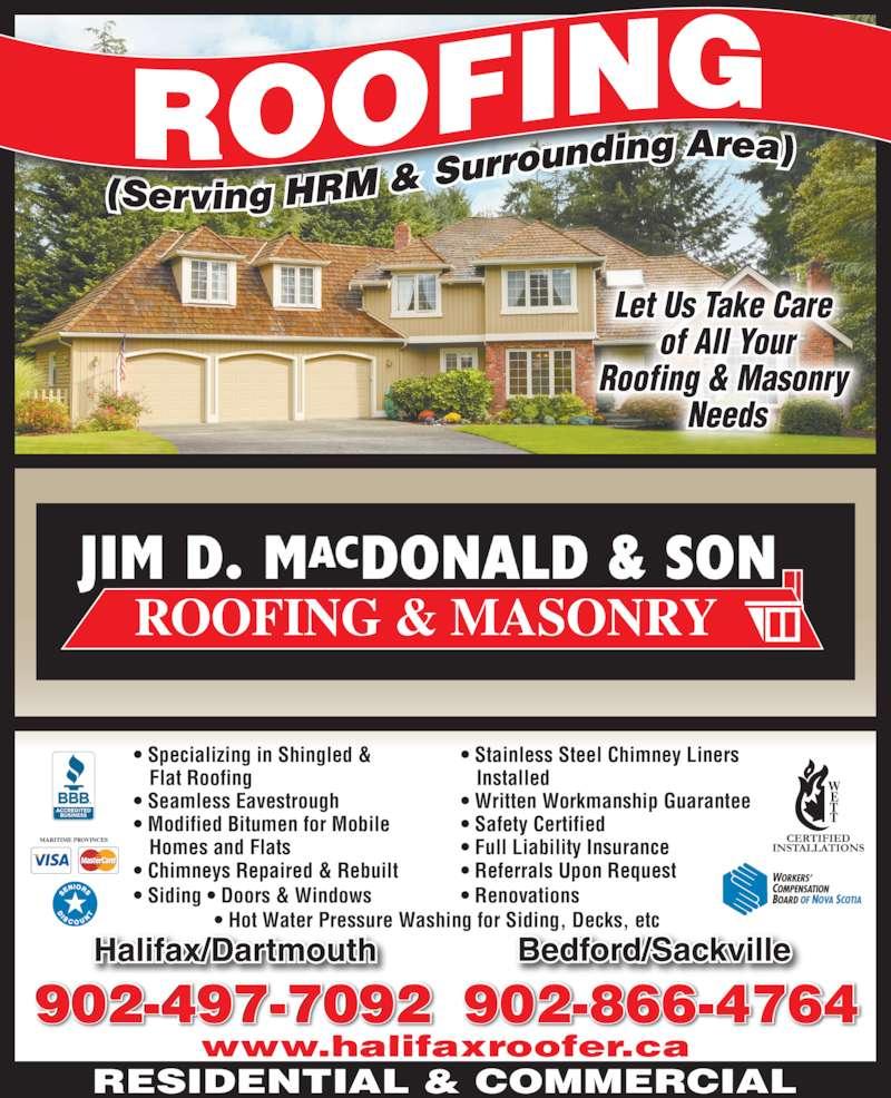 Jim Macdonald Roofing Amp Masonry Ltd Canpages