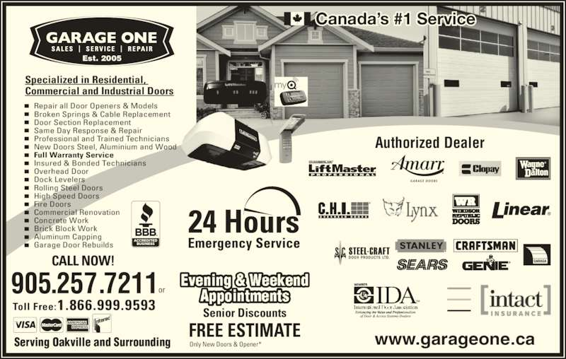 Garage One Inc Opening Hours 28 4181 Sladeview Cres