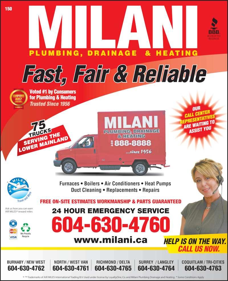 ad Milani Plumbing Drainage & Heating