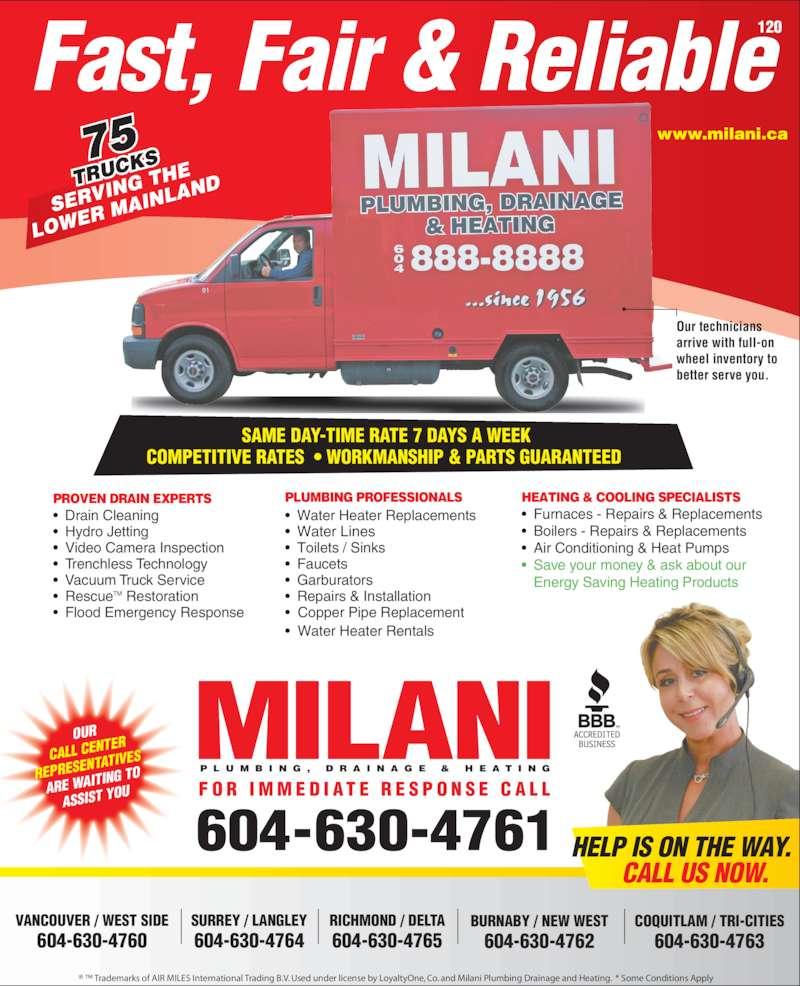 Milani Plumbing Drainage Amp Heating Opening Hours 220