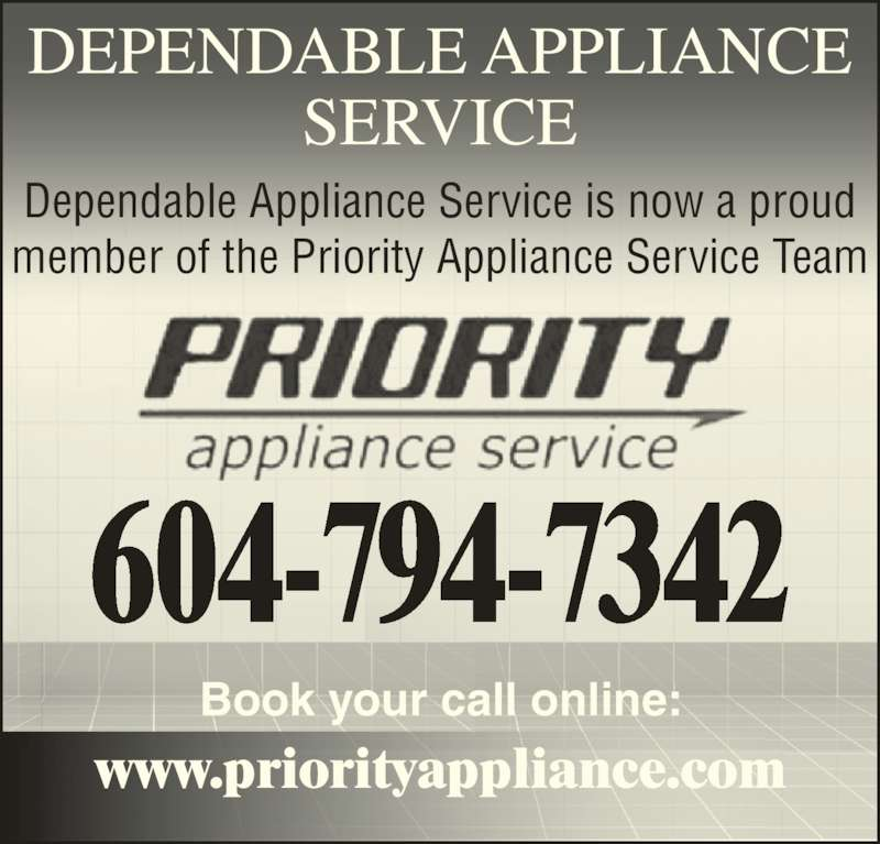 Priority Appliance Service Chilliwack Bc 7500 Marble