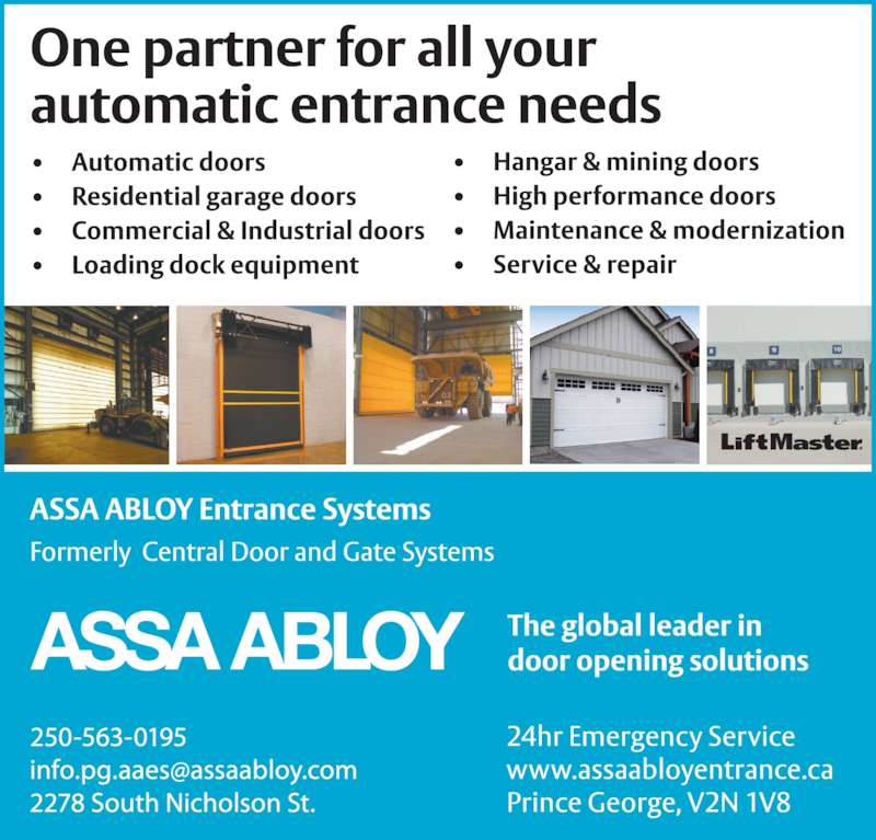 Assa Abloy Entrance Systems Prince George Bc 2278