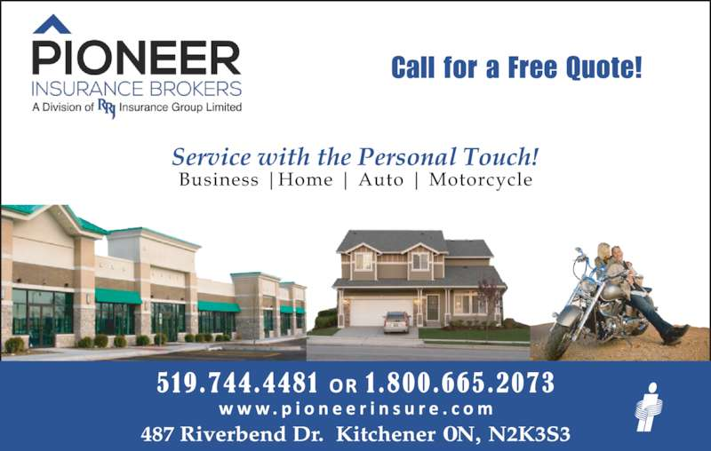Pioneer Insurance (5197444481) - Display Ad - Call for a Free Quote!