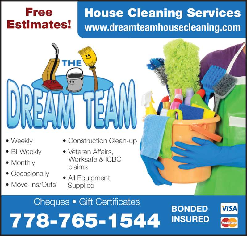 Dream Team House Cleaning Services - Opening Hours