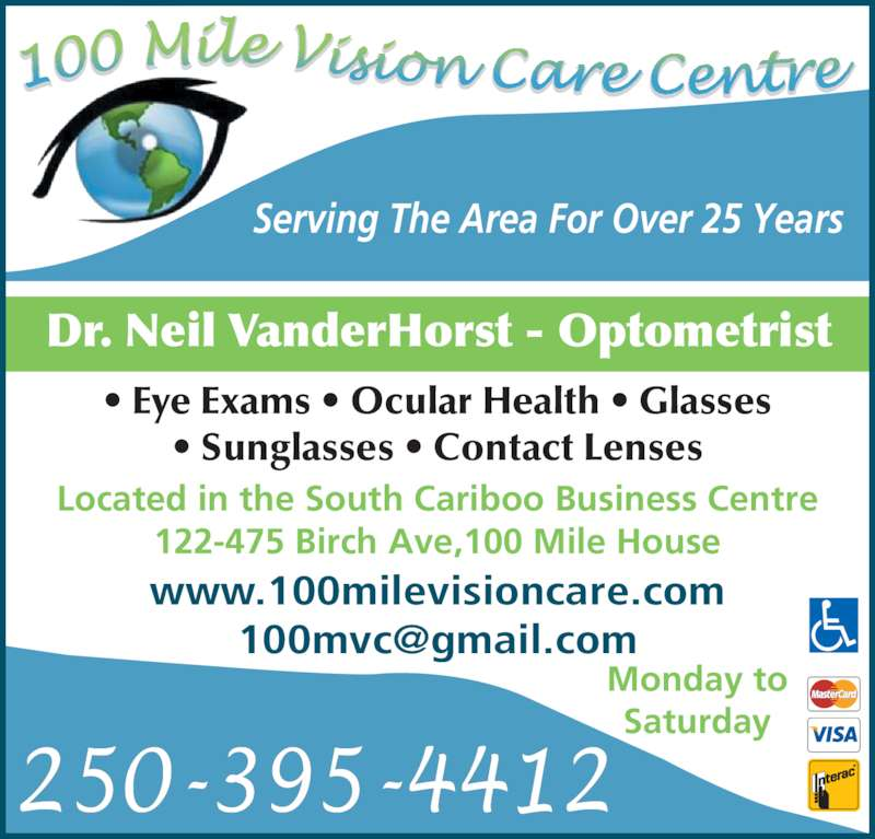 Eyeglass Frame Repair Columbia Sc : 100 Mile Vision Care Centre - Opening Hours - 122-475 ...