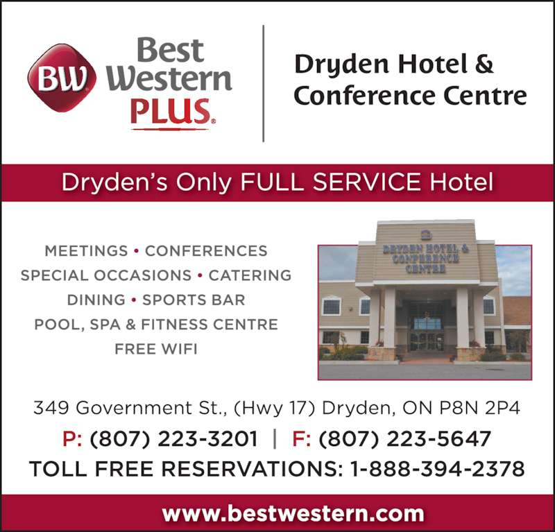 best western plus dryden on 349 government st canpages. Black Bedroom Furniture Sets. Home Design Ideas