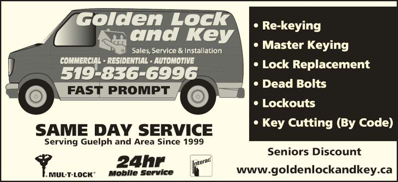 Golden Lock Amp Key Guelph On 71 Pleasant Rd Canpages