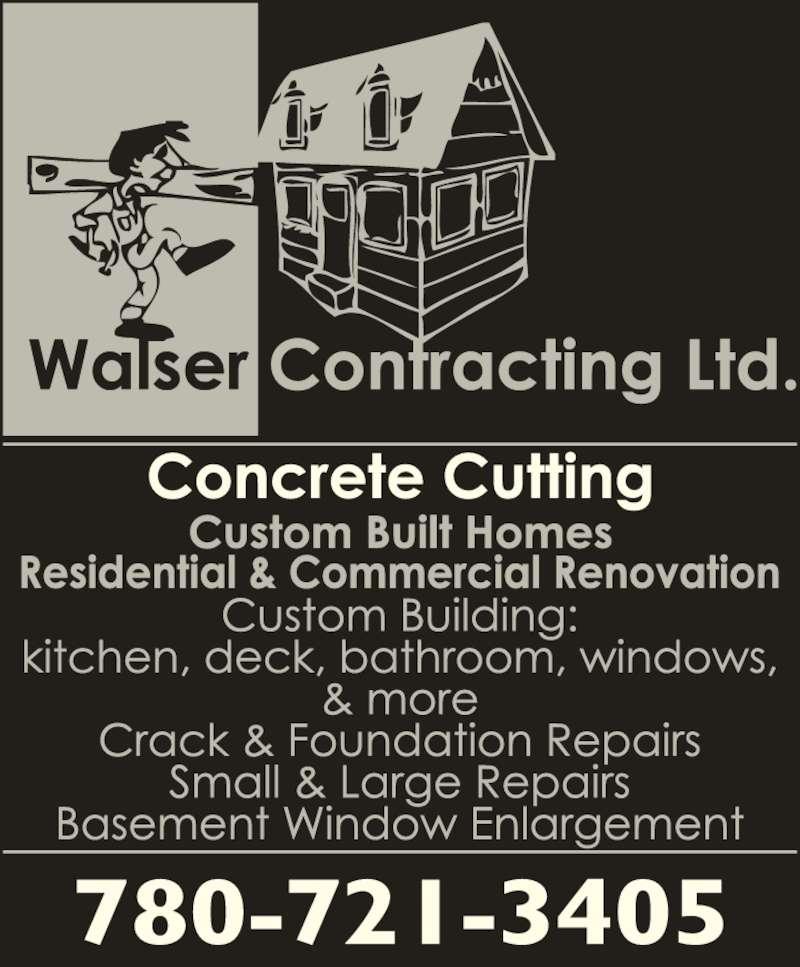 Walser Contracting Ltd (780-721-3405) - Display Ad -