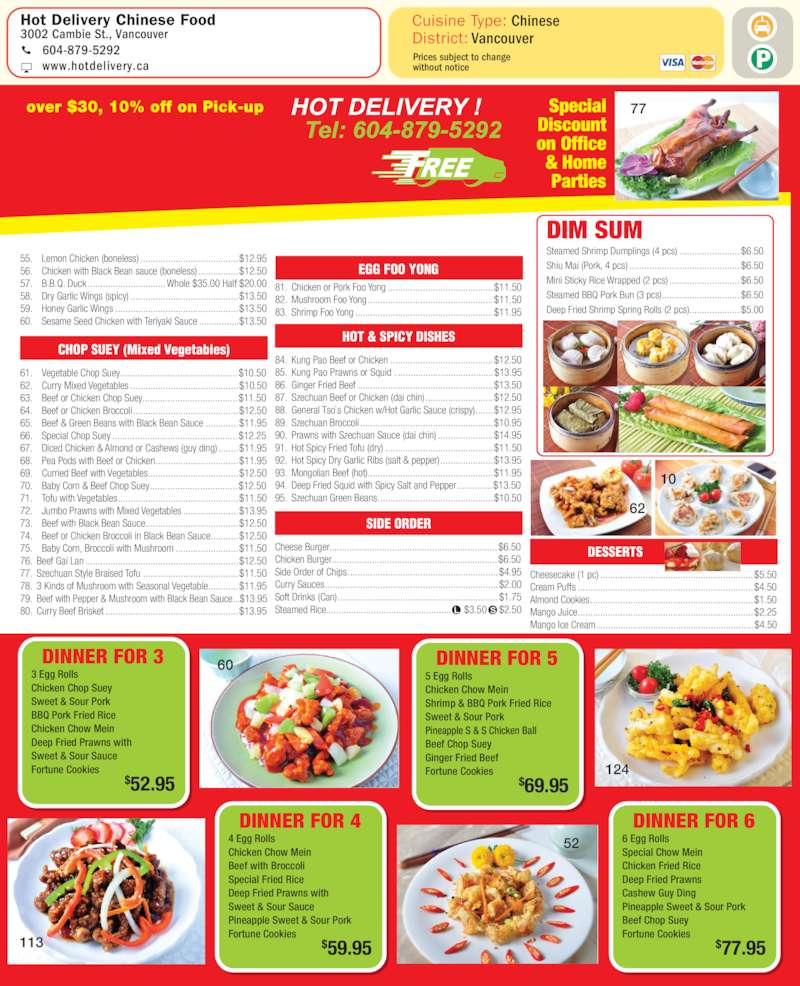 Chinese Food Ottawa Delivery West