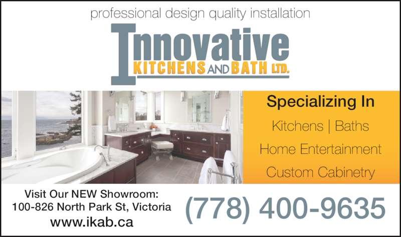 Innovative Kitchens U0026 Bath Ltd (250 590 1889)   Display Ad