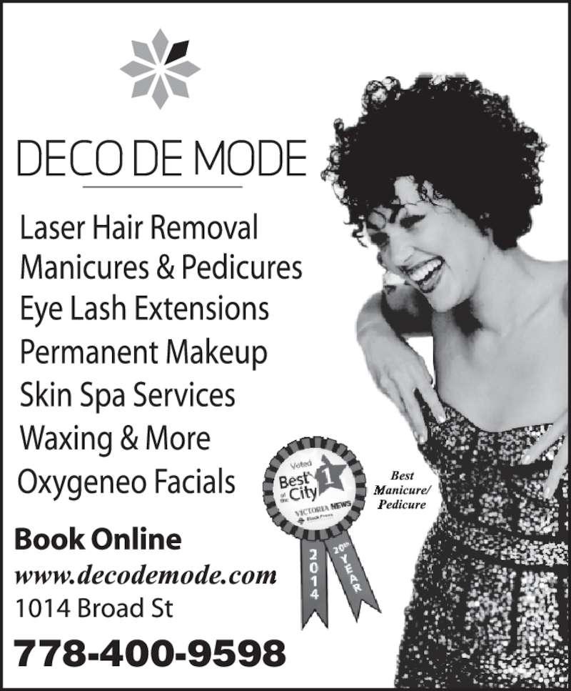 Deco De Mode Beauty Bar (250-380-6533) - Display Ad - 778-400-9598