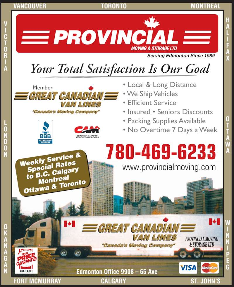 ad Provincial Moving & Storage