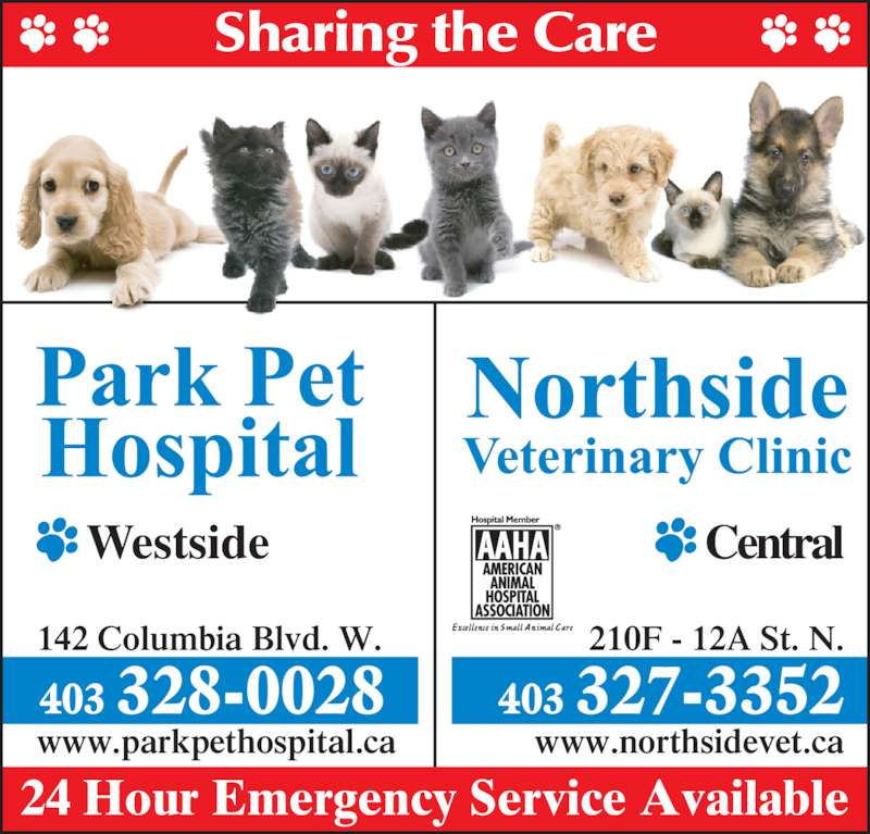 park pet hospital   opening hours   142 columbia blvd w