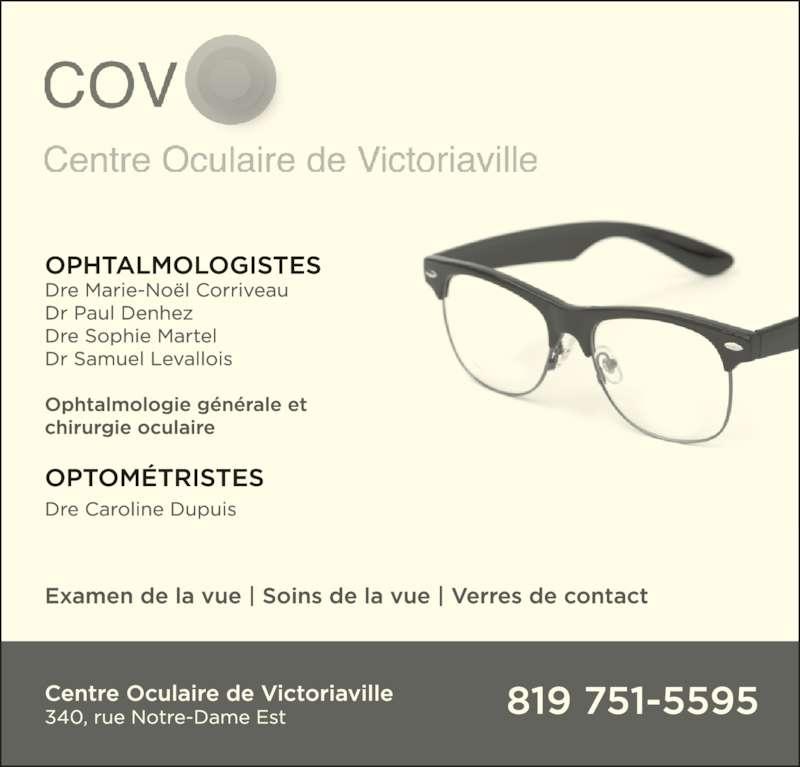 Centre Oculaire de Victoriaville (819-751-5595) - Annonce illustrée======= -