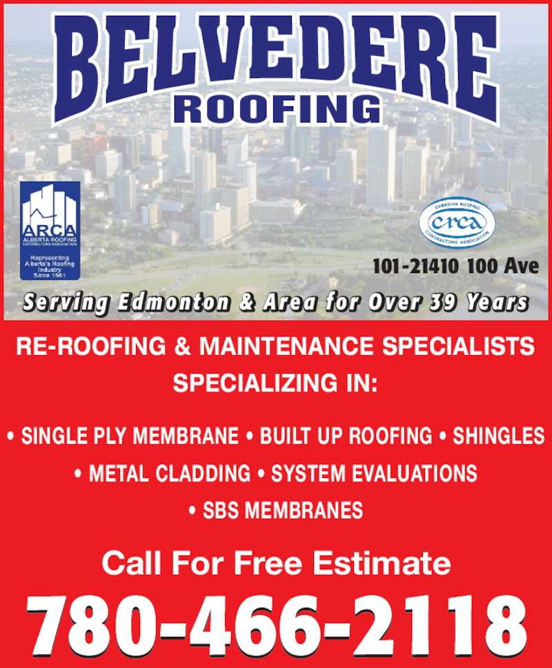 ad Belvedere Roofing Ltd