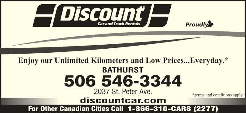 Discount car truck rentals bathurst nb 2037 st for 24 hour tanning salon near me