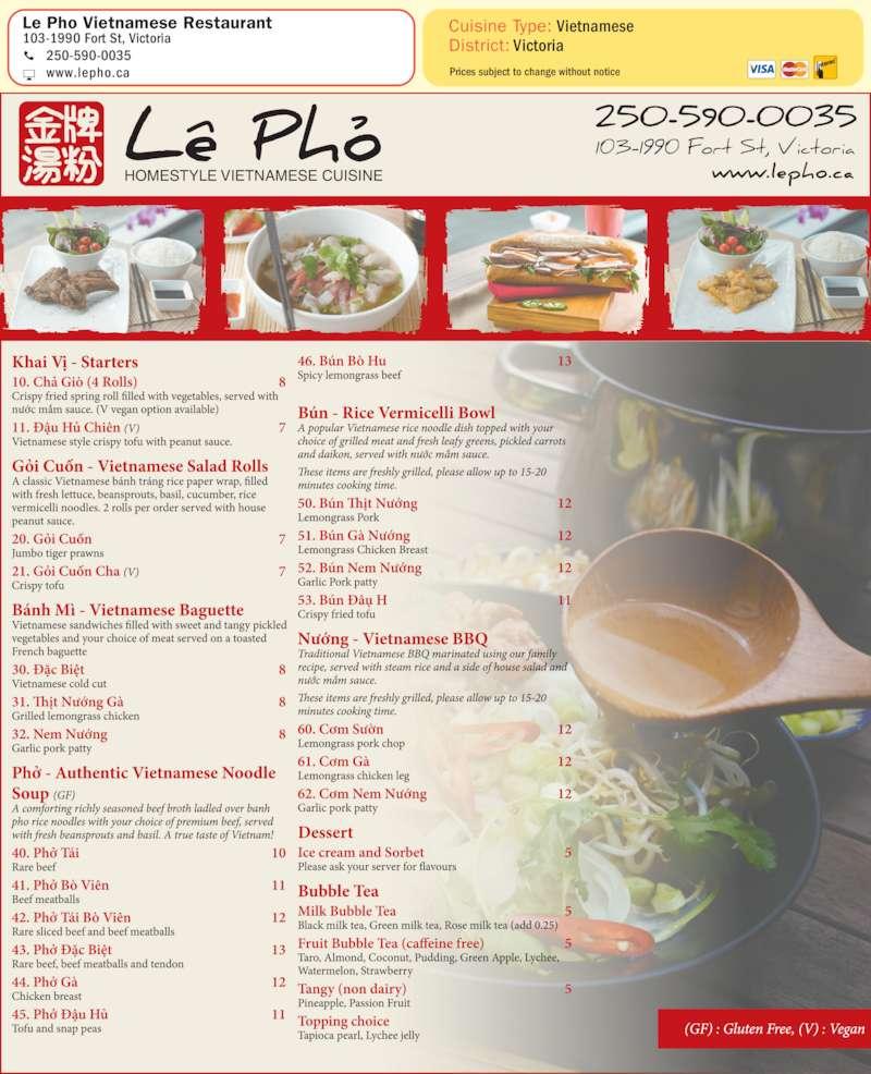 Vietnamese Restaurant Victoria Montreal