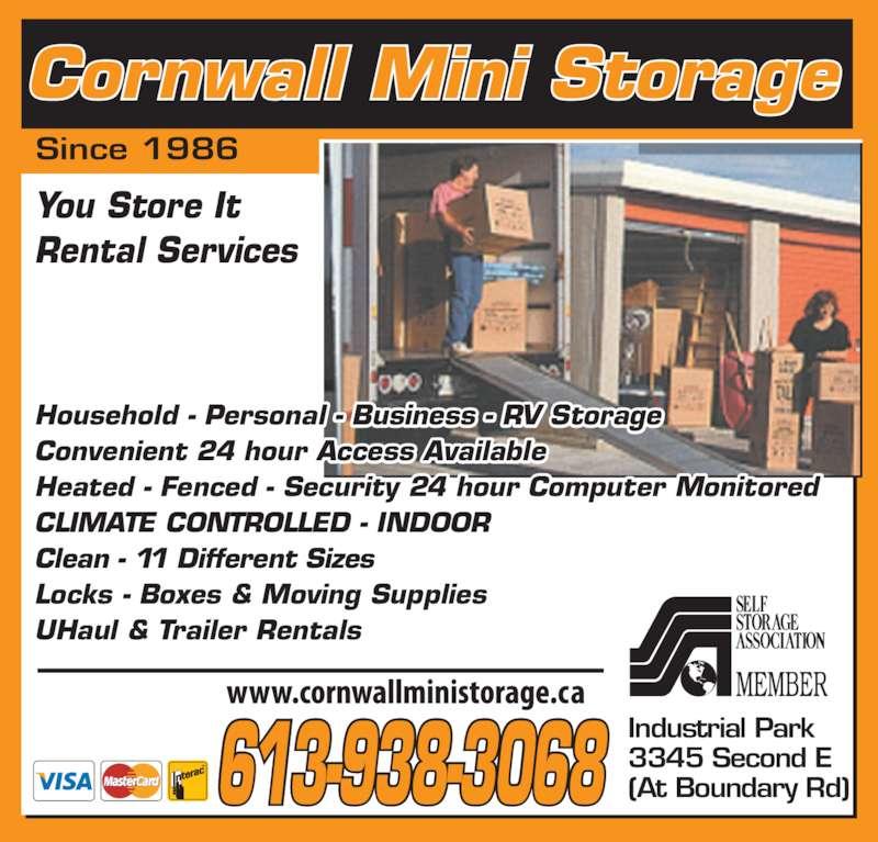 Cornwall Mini Storage Cornwall On 3345 Second St E