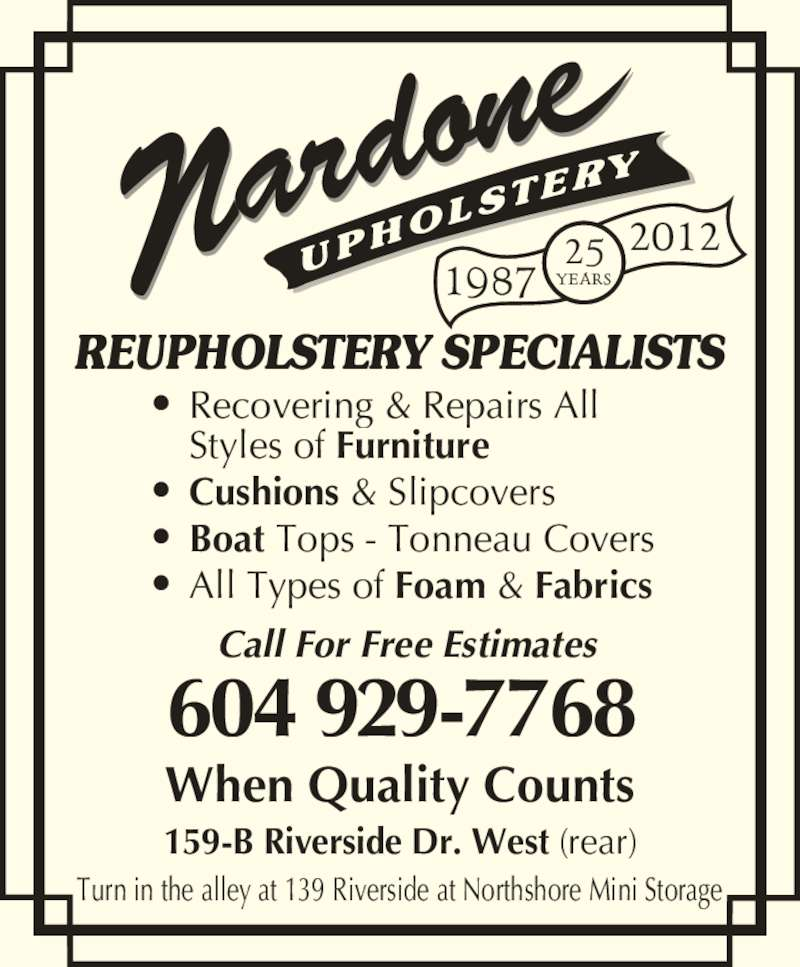 Nardone Upholstery North Vancouver Bc 159b Riverside