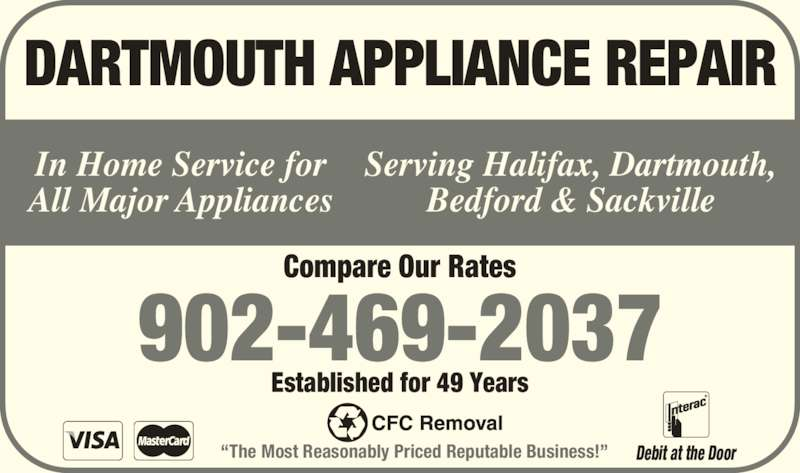 Dartmouth Appliance Repair Dartmouth Ns 205 Pleasant