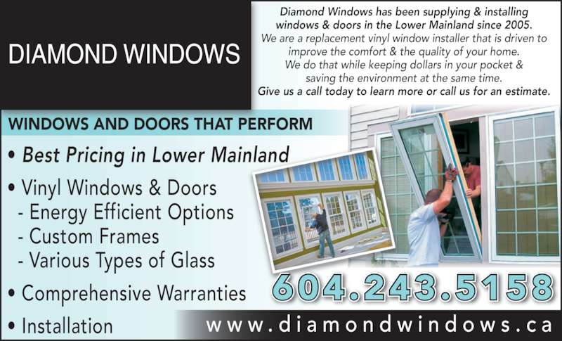 Diamond Windows Doors Ltd Opening Hours 12643 88 Ave