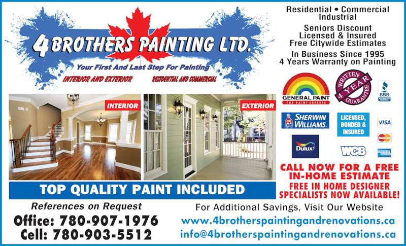 ad 4 Brothers Painting and Renovations Ltd