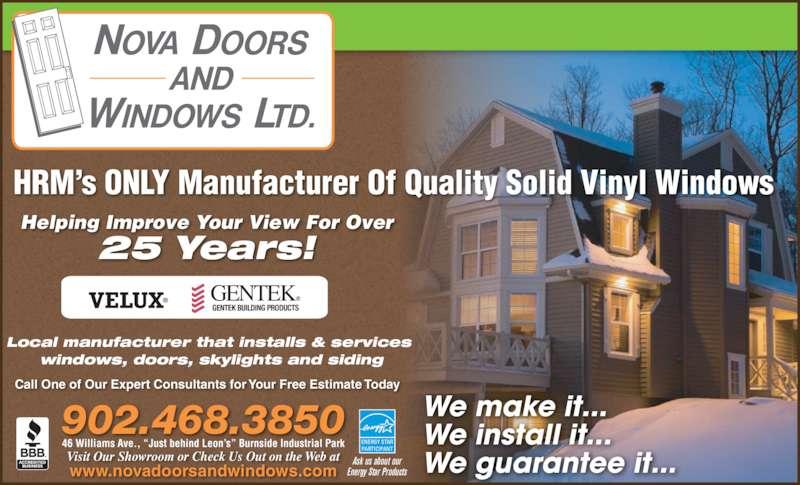 Nova Doors and Windows Ltd - Ads  sc 1 st  Canpages.ca & Nova Doors and Windows Ltd - Dartmouth NS - 46 Williams Ave ...