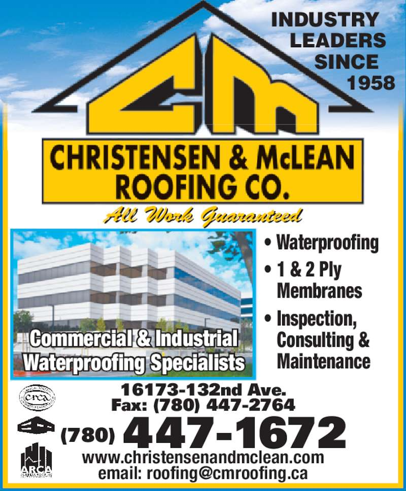 ad Christensen & McLean Roofing Co