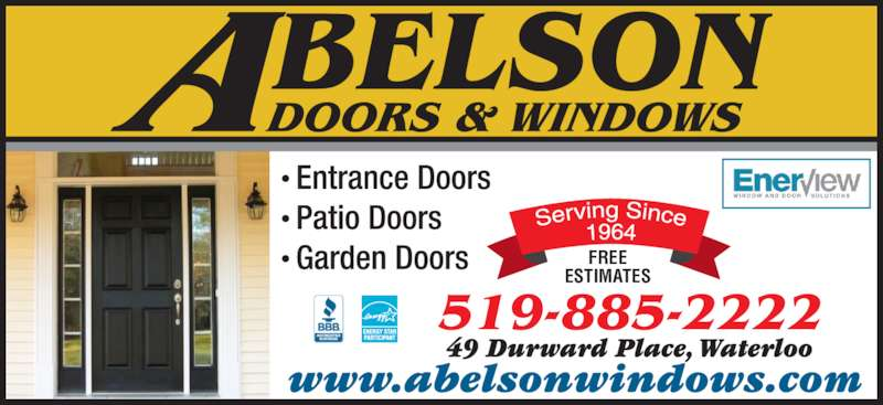 Abelson Windows Amp Doors Waterloo On 49 Durward Pl