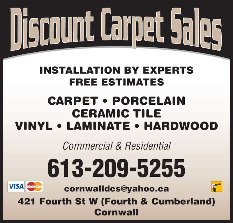Discount Carpet Sales Cornwall On 421 Fourth St W