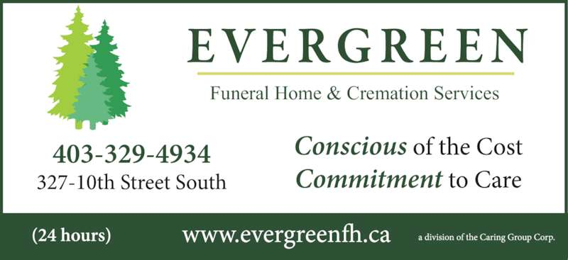Evergreen funeral chapel cremation services lethbridge for 24 hour tanning salon near me