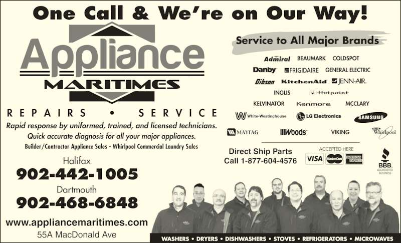 Appliance Maritimes Sales Amp Service Ltd Dartmouth Ns