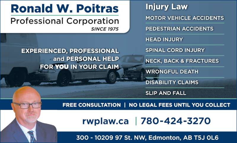 Poitras Ronald W Professional Corporation (7804243270) - Display Ad -