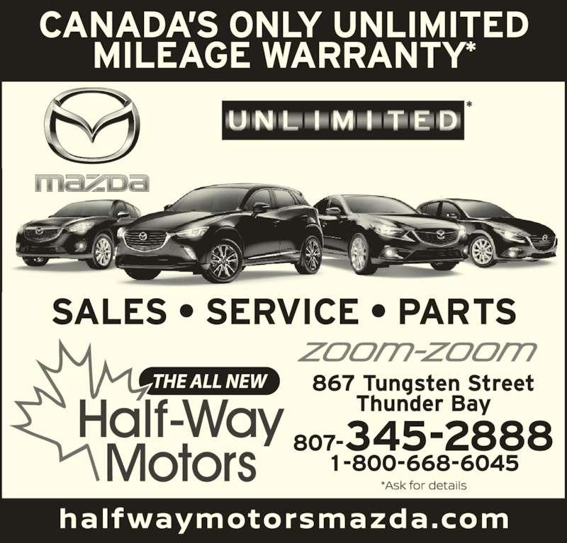 Half Way Motors Mazda Thunder Bay On 867 Tungsten St