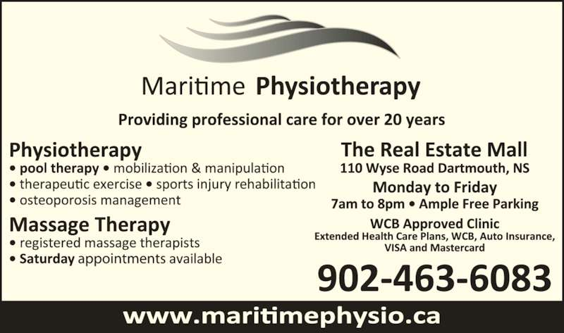 Maritime Physiotherapy Ltd (902-463-6083) - Display Ad -