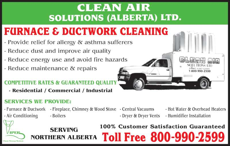 Clean Air Solutions Alberta Ltd Opening Hours