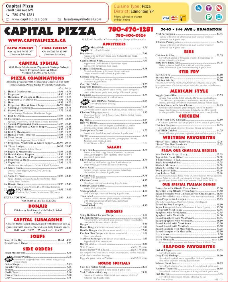Capital Pizza Ltd