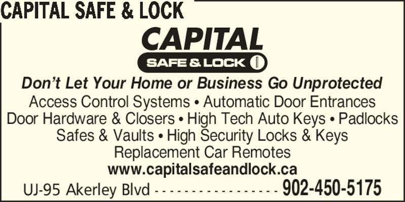 Capital Safe And Lock Service Ltd Opening Hours 95