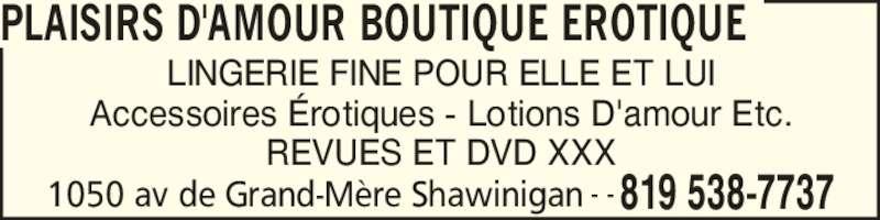 entreprises on orleans boutiques erotiques and pour adultes