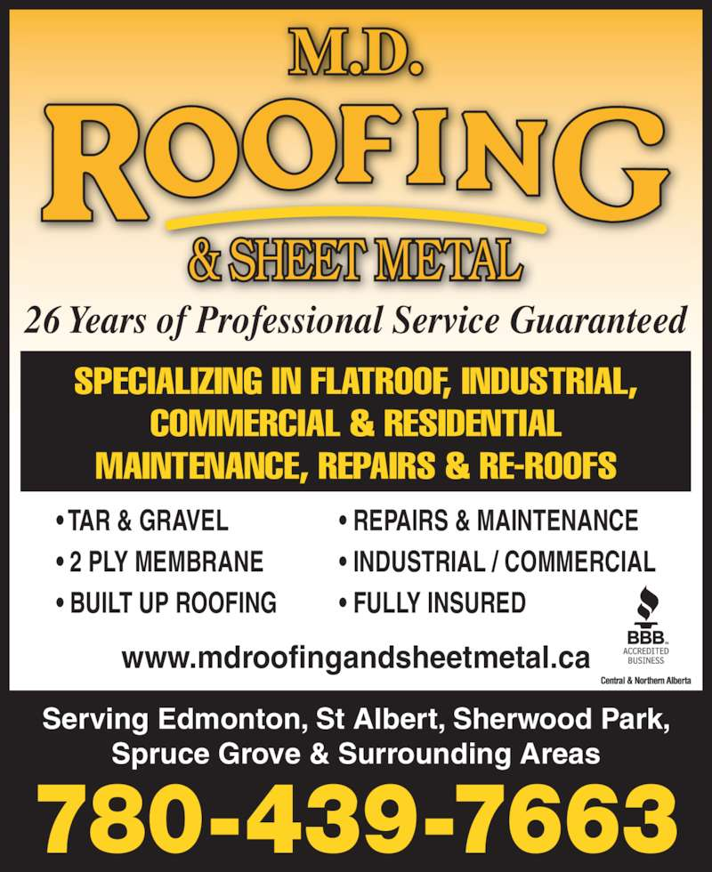 ad MD Roofing & Sheet Metal