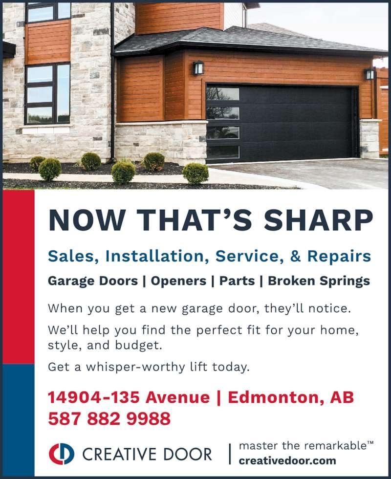 Creative Door Services Edmonton Ab 14904 135th Avenue