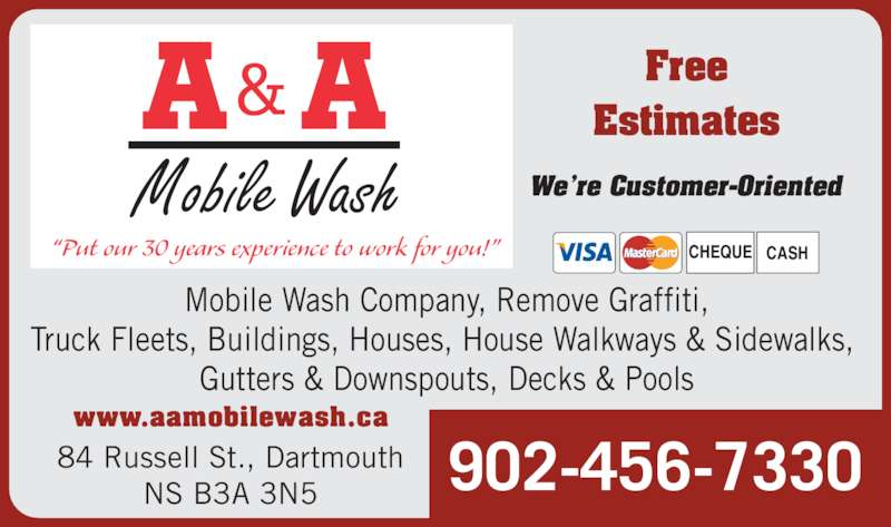 A A Mobile Wash Opening Hours 84 Russell St Dartmouth Ns