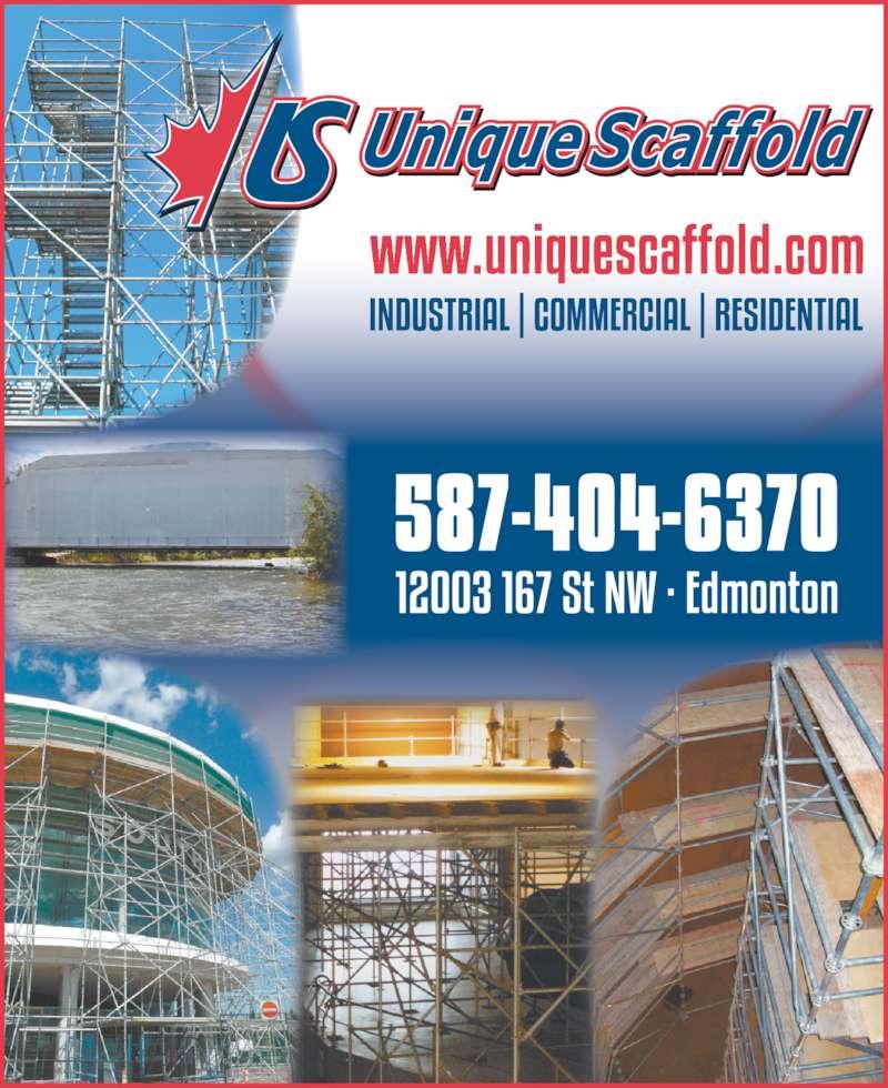 Unique Scaffold Inc (780-482-3425) - Display Ad -