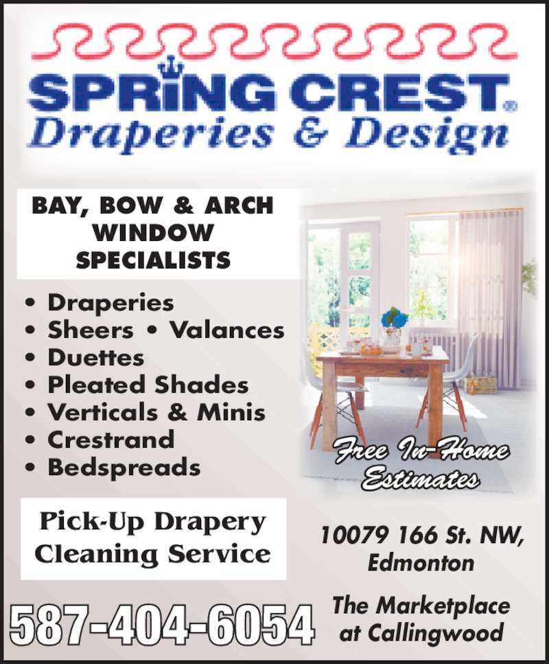Spring Crest Draperies Amp Design Opening Hours 10079