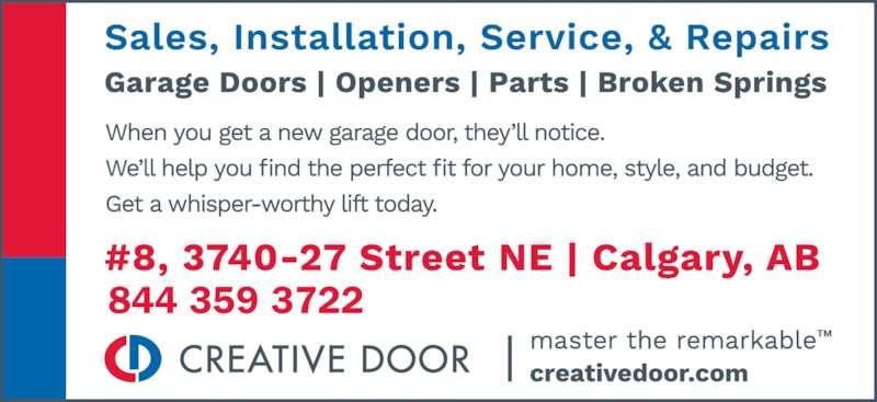 Creative Door Services Calgary Ab 8 3740 27th Street